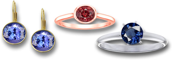 Colored Gemstone Jewelry