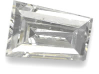 White diamond gemstone