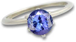 White Gold and Tanzanite Ring
