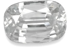 White Zircon Gemstone
