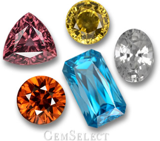 Zircon in every Color from GemSelect
