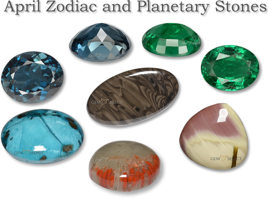 An Image of Zodiac and Planetary Gemstones from GemSelect - Large Image