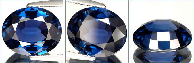 Top quality untreated blue sapphire