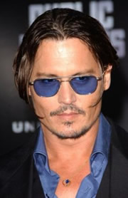 Johnny Depp wearing