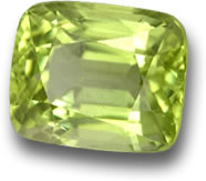 Cushion-Cut Peridot from Burma