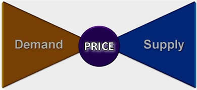 Demand and Supply determine the Price