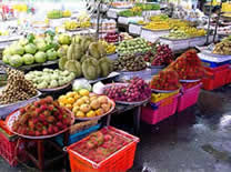 Local Fruit Market in Chanthaburi Thailand