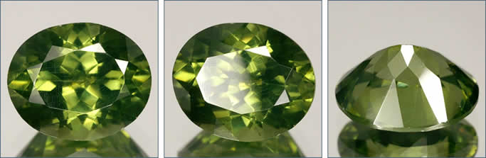 Natural Green Zircon from Sri Lanka