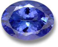 Heated Tanzanite Gem
