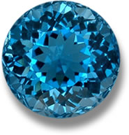 irradiated blue topaz