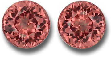 Pair of Fine Malaya Garnets
