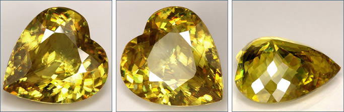 Natural Heart Shaped Sphene at GemSelect