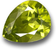 Pear Facet Peridot Gemstone