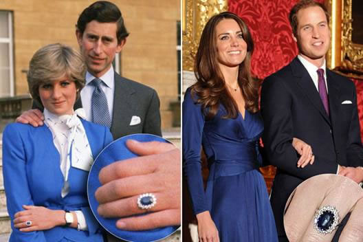The Sapphire ring of Princess Diana and Kate Middleton