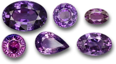 GemSelect Purple Sapphire Selection