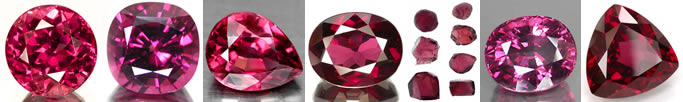 Natural Rhodolite Garnet Gemstones at GemSelect