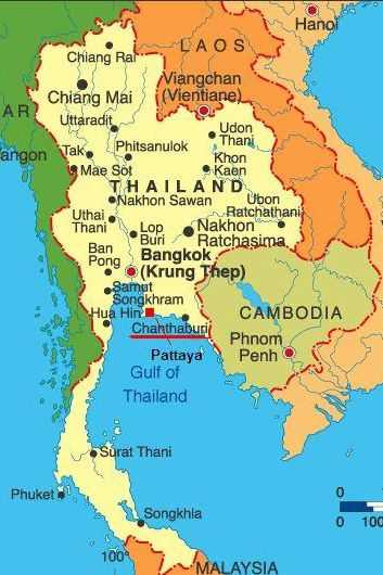Maps of South East Asia - Vietnam, Laos, Thailand