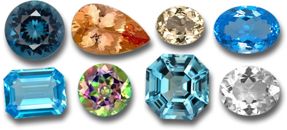 Topaz in many different colors