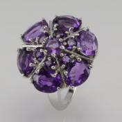 Buy a 8.2ct Amethyst Sterling Silver Ring from GemSelect