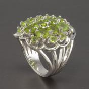 Buy a 7ct Peridot Sterling Silver Ring from GemSelect