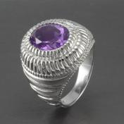 Buy a 3.6ct Amethyst Sterling Silver Ring from GemSelect