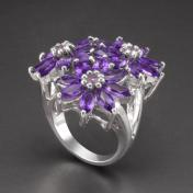 Buy a 11.9ct Amethyst Sterling Silver Ring from GemSelect