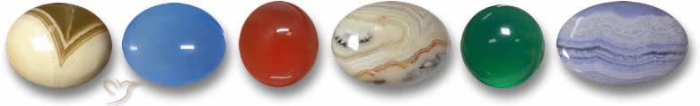 Pedras preciosas ágata