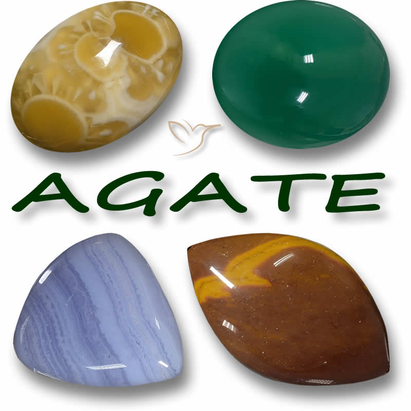 ágata Información A Piedra Preciosa En An Array Of Colores And Patterns