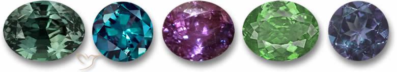 Pedras de alexandrita