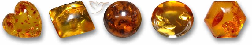 Pedras preciosas âmbar
