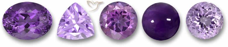 Pedras preciosas ametista