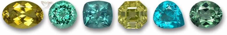 Pedras preciosas de apatita