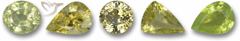 Pedras de crisoberilo