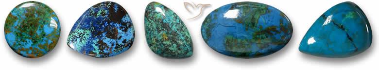 Pedras de crisocola