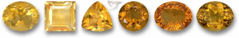 Pedras preciosas citrinas