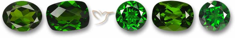 Pedras preciosas diopsidas
