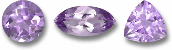Light colored amethyst