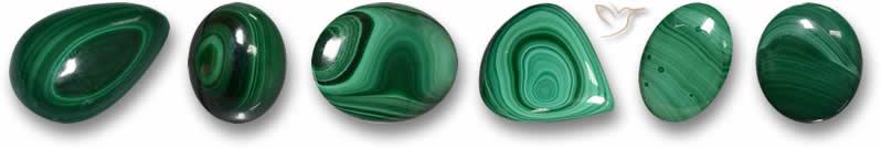 Pedras preciosas malaquita