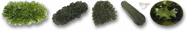 Pedras preciosas moldavitas