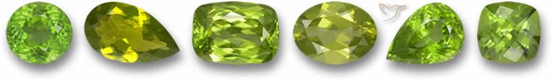 Pedras preciosas Peridot