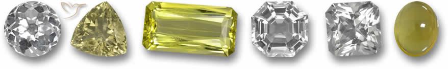 Pedras preciosas de quartzo