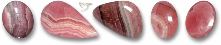 Pedras de rodocrosita