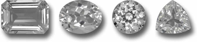 White Topaz Birthstones at GemSelect