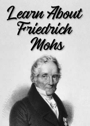 Mohs Scale - Invented by Friedrich Mohs