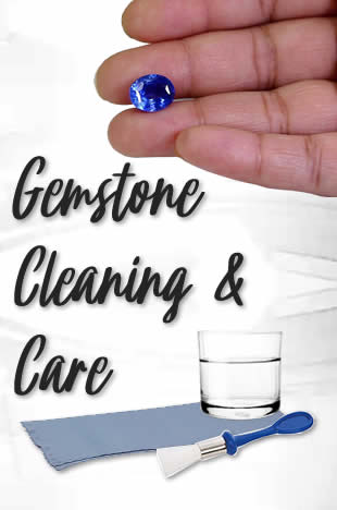 Gemstone Cleaning and Gemstone Care Information