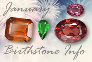 January Birthstone Information