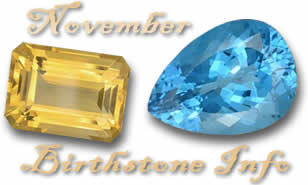 November Birthstone Information