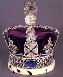 Imperial State Crown with the Stuart Sapphire