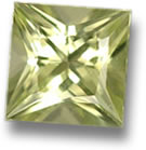 Princess cut chrysoberyl