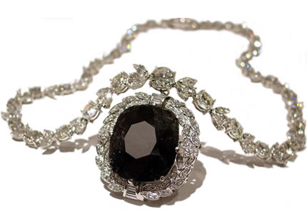 The Black Orlov Diamond with Necklace
